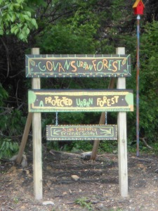 Forest Patch Sign